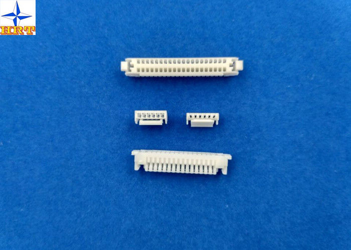 Single Row Circuit Board Connection, White PCB Wire Connector GH connector  PA66 Materials